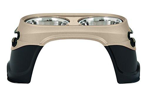 Original Large Bowl - Petmate 23448 8-Inch Easy Reach Diner for Pets, Medium, Pearl Tan/Black