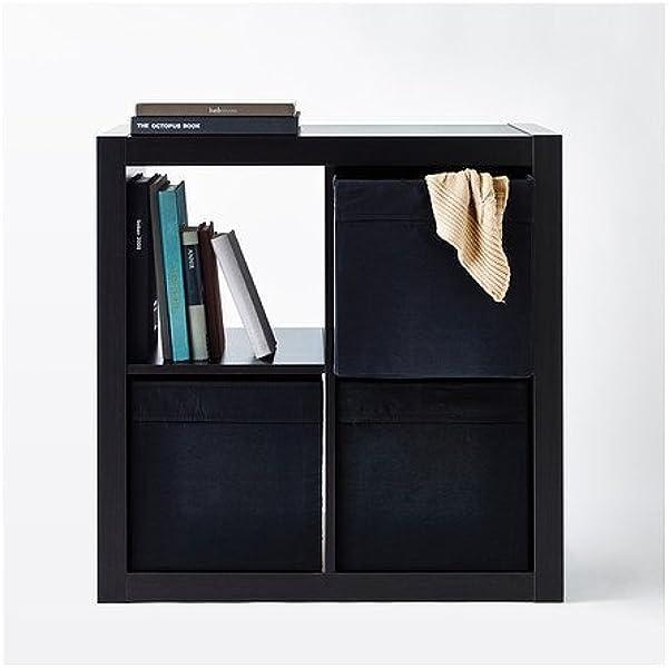 lkea Drona - Caja de almacenamiento negra, 33 x 38 x 33 cm - para estantería Expedit - 2 unidades: Amazon.es: Industria, empresas y ciencia