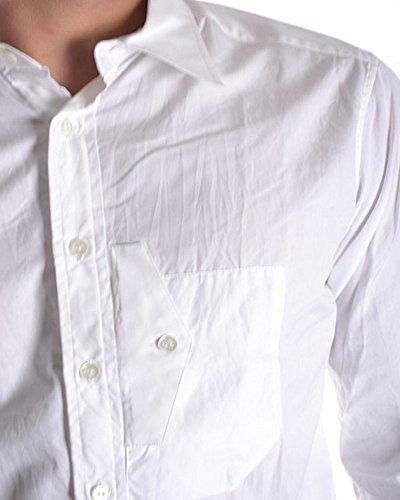 Yohji Yamamoto Herren MCBI317004O Weiss Baumwolle Hemd