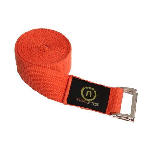 Natural Fitness Hemp Yoga Strap (Flame, 8-Feet)