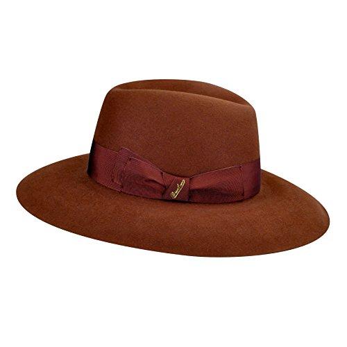 Borsalino Female Claudette Wide Brim Hat Clay M by Borsalino