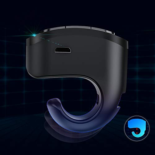 DinoFire Wireless Presenter Finger Ring USB Powerpoint Presentation Clicker Rechargeable RF 2.4 GHz Presentation Remote Control Laser Pointer Slide Advancer Support Mac Photo #3