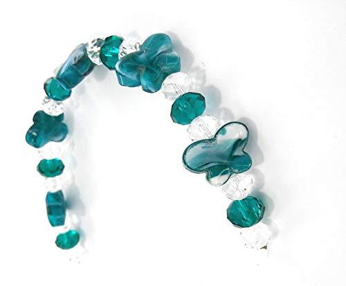 Linpeng Butterfly Lampwork Glass Bead Strand, ()