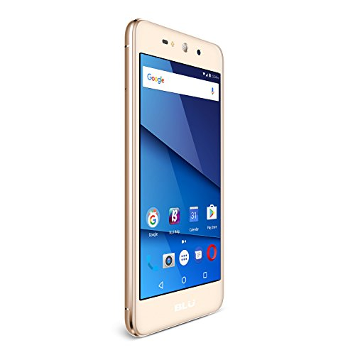 BLU Grand XL - Unlocked Smartphone -5.5'' Display, 8GB +1GB RAM -Gold by BLU