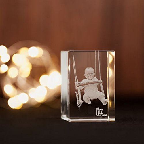 Crystal Cube Personalised Baby Photo Gift Incrystals