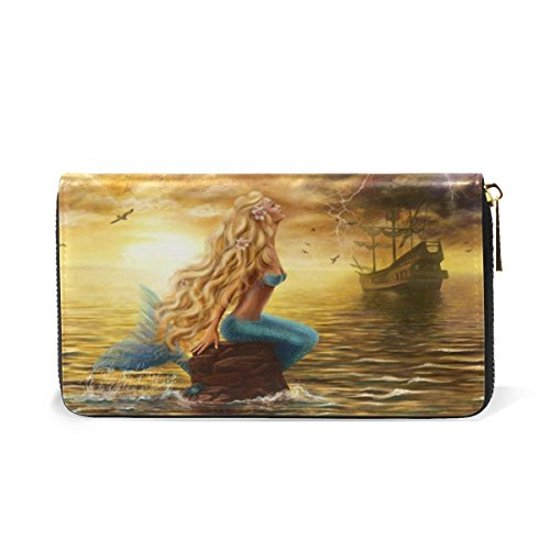 Womens Wallets Different Themes Leather Clutch Purse Long Handbag Card Holder by HangWang
