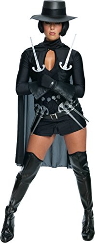 [Rubies Womens V For Vendetta Halloween Fancy Black Costume, L (12-14)] (Female Vendetta Costume)