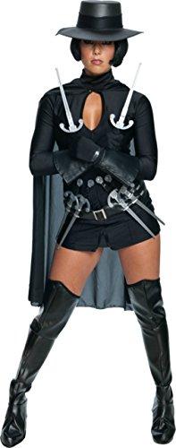 Rubies Womens V For Vendetta Halloween Fancy Black Costume, XS (4-6)