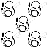 Retevis 2 Pin Throat Mic Covert Acoustic Tube Earpiece with PTT Compatible Baofeng UV-5R BF-888S Retevis H-777 RT22 RT21 RT27 H-777S Walkie Talkies (5 Pack)