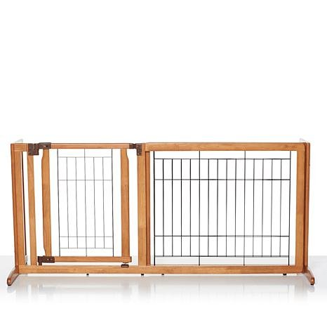 Improvements Freestanding Deluxe Dog Gate with Door - Medium (some assembly required)