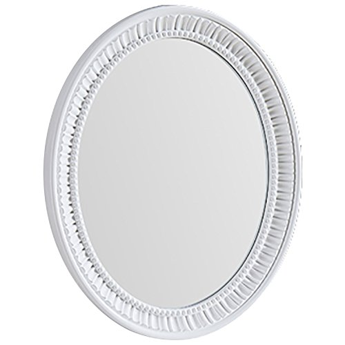 YX XY Mirror Wall-Mounted Bathroom Makeup Vanity ABS Framed Oval White (Color -
