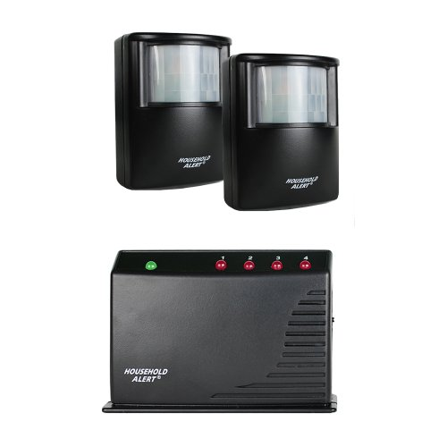 Skylink HA-300 Wireless Long Range Household Alert & Alarm Deluxe Home Business Office Motion Security Indoor Outdoor Infrared Detector System Kit