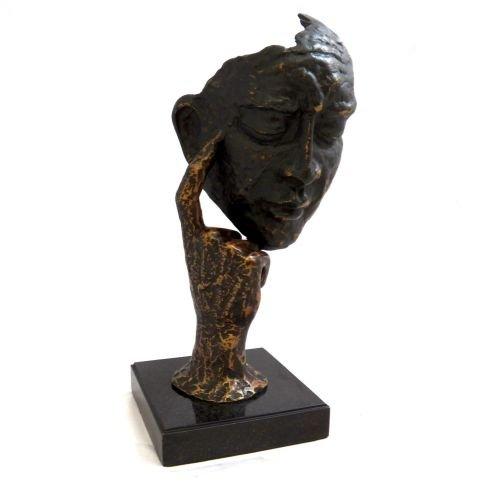 (Bey-Berk 12H in. Thinking Man Sculpture)