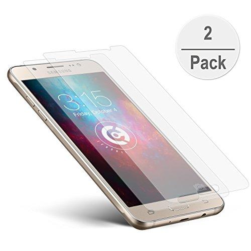 2er Set cTRON21 Panzerglas Folie Samsung Galaxy J5 [2016] Schutzfolie Hartglas 9H Anti-Bläschen Panzerfolie Handy Displayschutzfolie Transparent