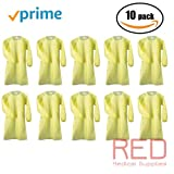 Isolation Gowns by PriMed, Overhead Fluid Resistant, Elastic Cuffs, Over-The-Head Full-Back AAMI Level 2 Gown, 10/Pack | 100/Pack (10 Gowns)