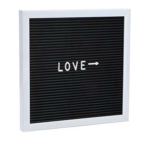 Hot Sale!DEESEE(TM)Felt Letter Board Sign Message Home Office Decor Board Oak Frame Letters 10'' x 10'' (Black)]()