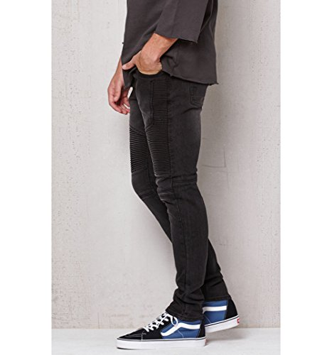 Pacsun Mens Stacked Skinny Moto Black Stretch Jeans at Amazon Men s  Clothing store  89be2235f1
