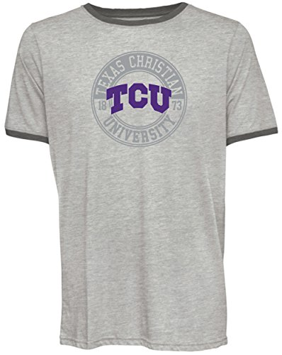 Camp David NCAA TCU Horned Frogs Men's Short Sleeved Heathered Jersey, Large, Sand