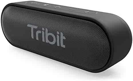 Tribit XSound Go Portable Bluetooth Speaker, 2×6W Wireless Speaker with Rich Bass, IPX7 Waterproof, 24-Hour Playtime, 66 FT Bluetooth Range & Built-in Mic, for Party, Travel [The Wirecutter's Pick]