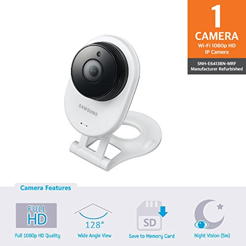 Samsung SNH-E6413BN SmartCam HD WiFi IP Camera with 16GB micro SD Card (Certified Refurbished)