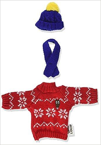 f6fd7838a51 Amazon.fr - Le Loup - tenue pour habiller la peluche (Pull et bonnet pour  l hiver) - Orianne Lallemand