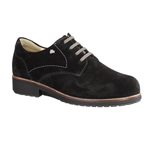 schnuerschuhe Da Velluto Comfort elmhurst di Nero Pelle scarpe Scarpe inserto Donna Finn comode Lose Comodo P8dxn1wq