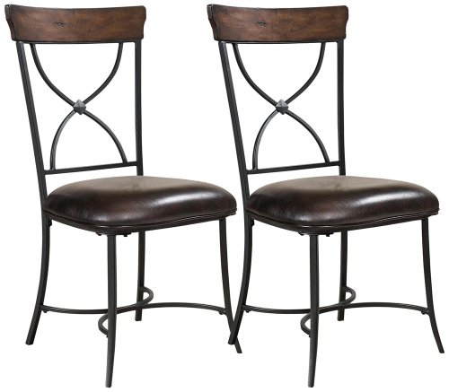 Hillsdale Furniture Cameron X-Back Dining Chairs, Chestnut Brown Finish, Set of 2 Cameron Dining Table