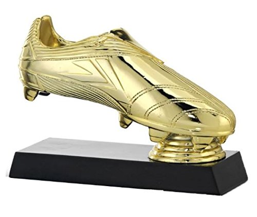 Trofeo Bota de Oro 22x16 cm Resina GRABADO Trofesport Trofeos PERSONALIZADOS Trofeos Deportivos Trofeos de Futbol