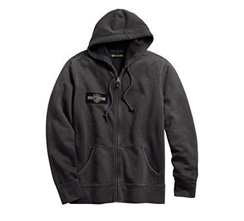 Harley-Davidson Official Men's Eagle Logo Slim Fit Hoodie, Steel Grey (XXX-Large)