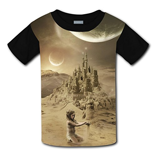 Short Sleeve New Summer Shirts 3D Making With Sandstorm For Boy Girl M