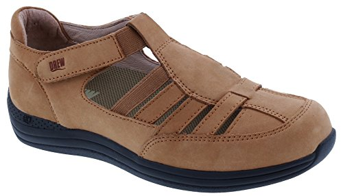 Drew Shoe Maryann Women's Therapeutic Diabetic Extra Depth Shoe: Cork/Nubuck 8 Medium (B) Velcro ()