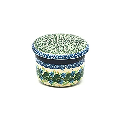 Polish Pottery Butter Keeper - Ivy Trail