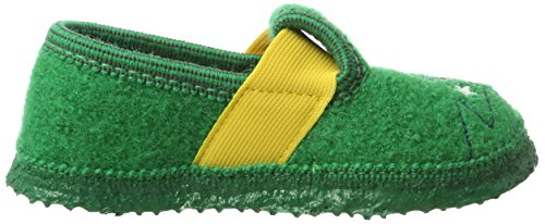 Giesswein Trittau, Zapatillas de estar Por Casa Para Niños Verde (Mittelgrün)