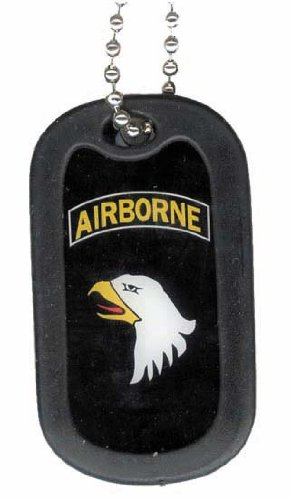 Screaming Eagle Airborne (United States Army 101st Screaming Eagles Airborne Division Rank Logo Symbols - Military Dog Tag Luggage Tag Key Chain Metal Chain Necklace)