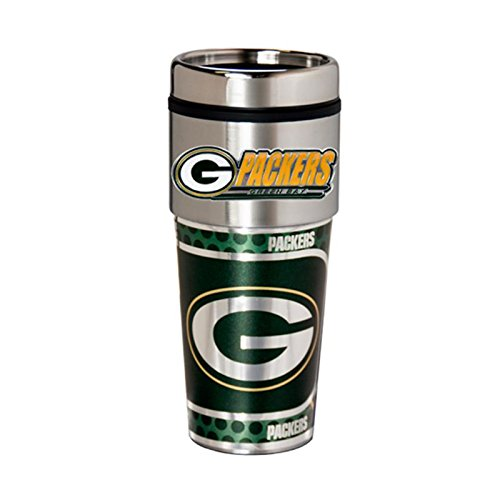 Great American Products Green Bay Packers 16oz. Stainless Steel Travel Tumbler/Mug ()