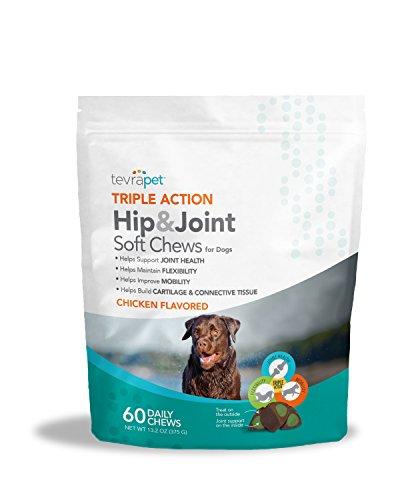 TevraPet Triple Action Hip Joint Soft Chews, 60 daily chews, 13.2 oz