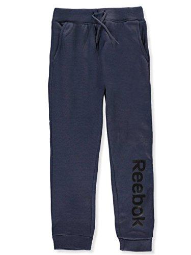 Reebok Boys' Big Spun Poly Fleece Latitude Jog Pant, Charcoal, 10/12 (Charcoal Jog Pant)