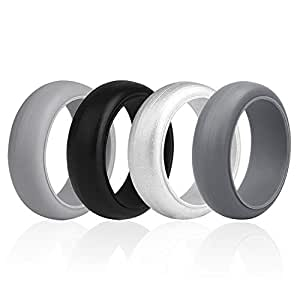 Amazon.com: HouNa Silicone Wedding Ring Rubber Wedding