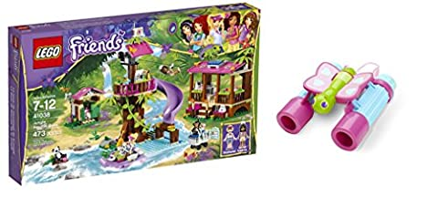 LEGO Friends Jungle Rescue Base 473 Pcs & free Gifts Butterfly Binoculars (Colors may vary) Toys