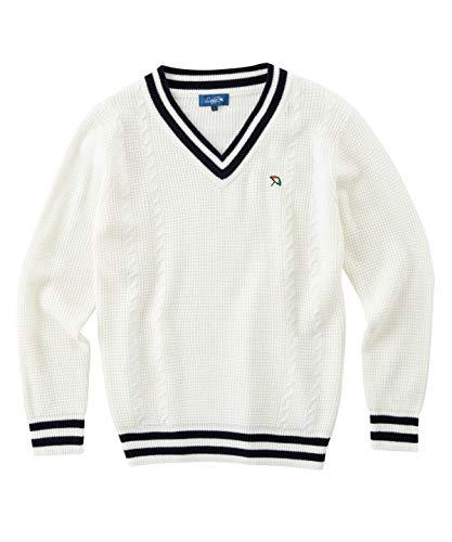 アーノルドパーマー ゴルフウェア セーター メンズ ケーブルVネックセーター AP220204H01 OW M