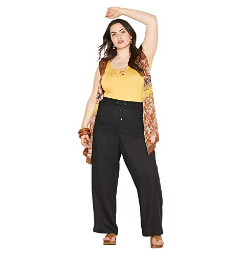 Loralette Women's Cargo Jogger Pant with Embroidered Pockets, 1X -