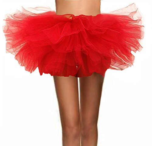 T-Crossworld Women's Classic 5 Layered Puffy Mini Tulle