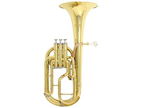[해외]x26#39; Luca 860L3 860 시리즈 황동 Eb 알토 혼 (로즈 브래스 리드 파이프 포함), 전문 케이스, 클리닝 키트, 골드/D`Luca 860L3 860 Series Brass Eb Alto Horn with Rose Brass Lead Pipe, Professional Case, Cleaning Kit, Gold