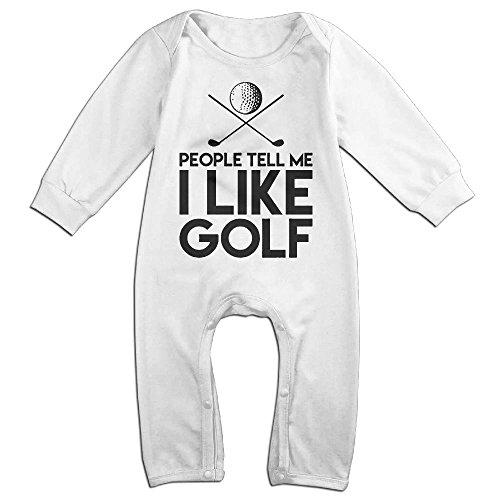 Golf Teddies (Fillmore Golf Cart Wheelie Sign Long-Sleeve Romper Jumpsuit For 6-24 Months Toddler 6 M White)
