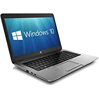 HP EliteBook 840 G1 14-inch Ultrabook (Intel Core i5 4th Gen, 8GB Memory, 256GB SSD, WiFi, WebCam, Windows 10 Professional 64-bit)