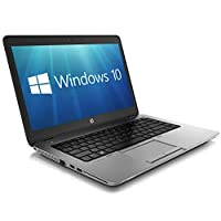 HP EliteBook 840 G1 14-inch Ultrabook (Intel Core i5 4th Gen, 8GB Memory, 256GB SSD, WiFi, WebCam, Windows 10 Professional 64-bit) With Antivirus (Certified Refurbished)