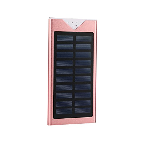 Solar Charger,Electric Camel 10800mAh Portable Solar Power Bank Dual USB LED Battery Charger for Outdoor iPhone,Samsung,Android phones,GoPro Camera,GPS and More (Pink) by Electric Camel