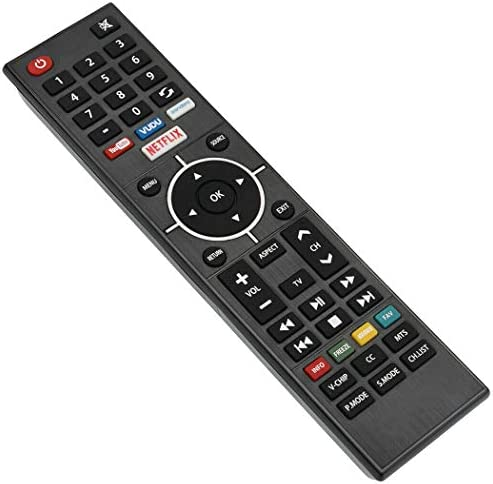 New KY49C-178F Replace IR Remote Control fit for Element LED TV E4STA5017 ELSJ5017 ELSW3917BF E4SFT5517 E4SFT5017 Television with VUDU Netflix App Key Button