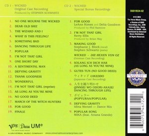 Wicked (Orginal Cast Recording) [2 CD][Deluxe Edtion] by Verve (Image #1)