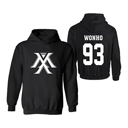 KPOP Monsta X Sweater Hoodie IM Jooheon Wonho Shownu Minhyuk Jacket Pullover XS Black